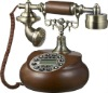 Novelty Antique Wood Phone for home decor/Retro Landline Telephone