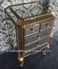 Antique mirror with 4 drawers bedside table
