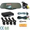 Car video monitor mirror/Video Bluetooth car mirror/ Car Mirror+wireless camera+bluetooth+FM Earpiece+4 sensor