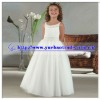 Beatiful White Children Dresses With Beaded Neckline And Waistline YBFD-0094