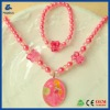 Children's Snow White series lovely plastic Necklace Set