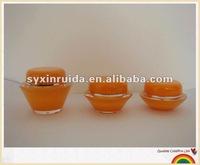 plate shape cosmetic acrylic cream jar