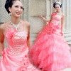 2011 new Extraordinary temperament glamorous pink sequined dress diamond pieces gorgeous winding LF606