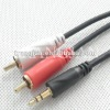 Stereo Male to Two RCA Stereo Male Audio Y Cable