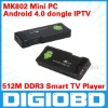 Android 4.0 Mini PC IPTV Google Internet TV BOX Smart Android Box DDR3 512MB RAM 4GB ROM Allwinner A10 MK802