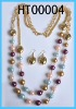 Hot sales color pearl necklace jewelry set