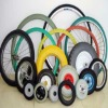 Plastic storge box pu tires/wheels