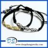 personalized saudi beaded evil eye crystal leather bracelets