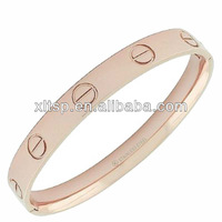 B20 High Grade Women Rose Gold Bracelets With Screw