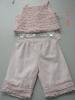 linen/viscose girls suit (girl wear,children's wear,baby suit)
