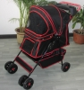 black 4 wheel pet stroller/trolley