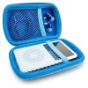 Leathre Travel Case for Earbuds, iPods, iPhone, and Digital Cameras B14-004