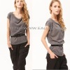 2011 Fashion design grey ladies casual tops
