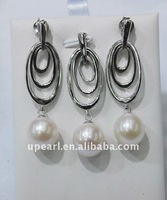 Upearl 9-10mm 925 sterling silver & freshwater pearl sets