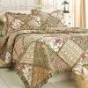Annas Landscape Rag Ruffled Cotton Floral Quilt