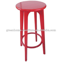 Red pine wood bar stool