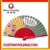 Customise spanish folding wooden hand fans
