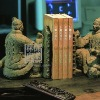 6007-82Handmade Ancient Warriors Bookend