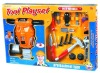 Plastic toy mechanic tool box set for children QS120516100