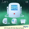 IPL RF 2 in 1 system,8*40mm spot size,100000 shots,double-handpiece design,super large color touch screen,2 years warranty