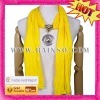 Yellow ladies' neckerchief jewellry wholesale
