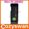 High quality low price!1GB RAM 4GB ROM 1.5GHz allwinner a10 MK802 Smart TV box android4.0