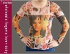 Vogue Girl Tattoo Long Sleeved Shirt L9853