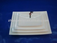 4pcs ceramic rectangular dinner plates YZ022