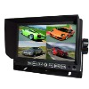 Car 7 Inch 4 ways video inputs rear view monitor