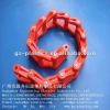 nylon chains (red)