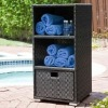Patio Furniture Outdoor Wicker Storage Tower