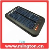 Low cost solar charger with led light