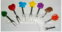 Customized Buffet Dinner Cartoon Charming Silicone Fruit Fork