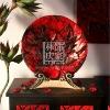 Q141-80.82 Peony Flower Shape Stone-make for Home Decorative Ornament