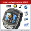 waterproof wrist watch phone with key GD910