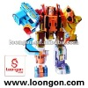 Loongon super letter robot merging 7 individual letters (A-G) to one huge robot transformer toys