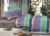 4 pcs set stripe satin drill printed duvet cover