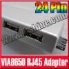 "Mini 2 USB LAN RJ45 Ethernet to 24 Pin Adapter For 7"" Tablet PC VIA 8650 Epad"