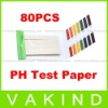 80 Full Range 1-14 pH Test Paper Strips Litmus Testing