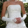 fingerless elbow wedding gloves/white satin glove/bridal glove