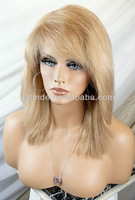 Indian remy hair short blonde lace front wig