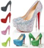 Rhinestone platform dress women high heels wedding shoes 2012