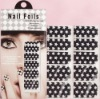 foil nail sticker,luminous style full cover nail stickers
