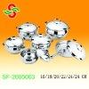 12 pcs boris stainless steel cookware set