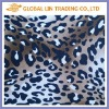 Italian brown leopard voile open mesh fabric