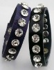 Fashion Leather wrap diamond bracelet with crystal