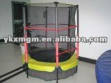 Springs-free kids Mini Trampolines with enclosure