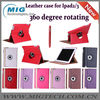 360 degree rotate leather case, for ipad 3 leather case