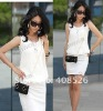 New Fashion Women's Causal Chic Tunic Cotton Chiffon Mini Crewneck Dress
