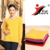 basic design women's yellow cashmere sweater